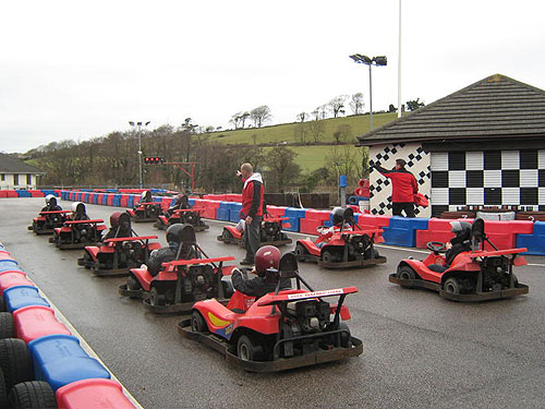 Go Karting at North Devon Karting centre in Barnstaple