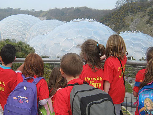 A trip to the Eden Project - a first glimpse of the domes