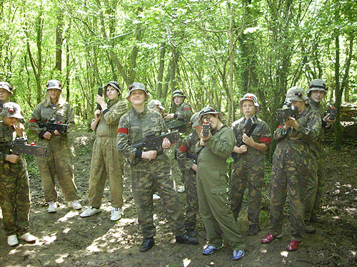 Woodland laser games at Survival Lasers Torrington